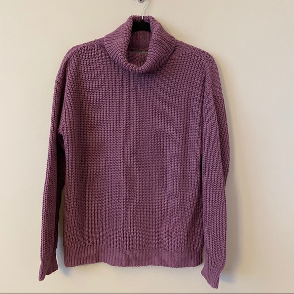 AE-Don't Ask Why-Looped Knit Turtleneck Sweater